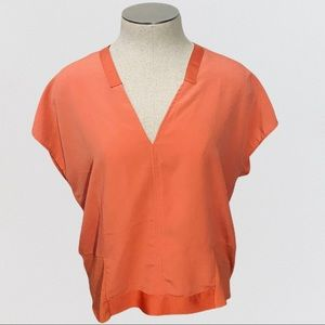 Zara Coral Colored Oversized Top